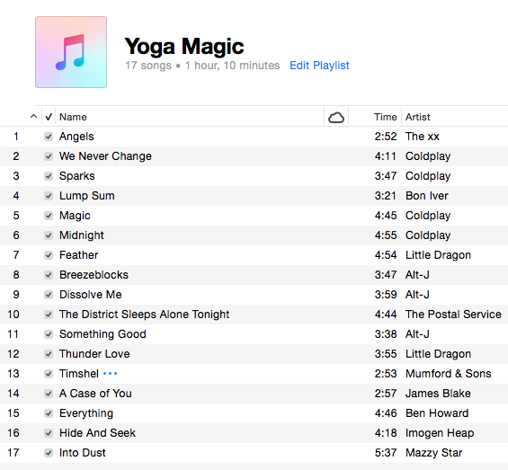 Magic yoga playlist