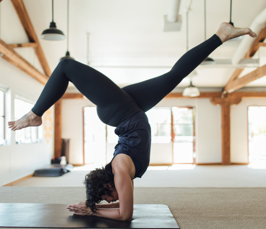 inverted vinyasa yoga pose