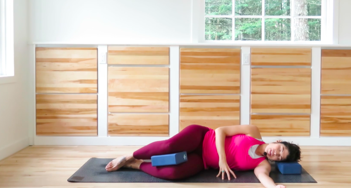How to modify in yoga class when pregnant